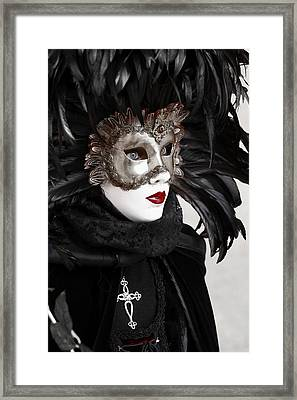 Red Lips Framed Print by Simona  Mereu