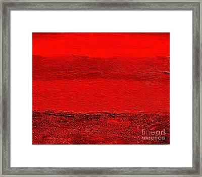 Red Ll Framed Print by Marsha Heiken