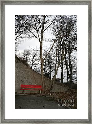 Red Loneliness Framed Print