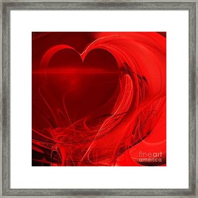 Red Love . Square . A120423.279 Framed Print