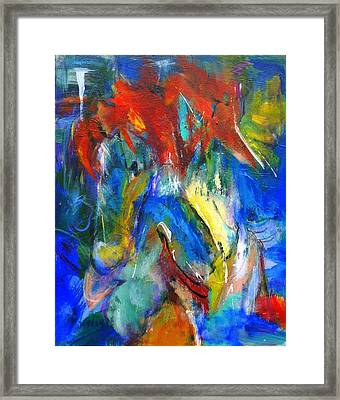 Red Mane Framed Print