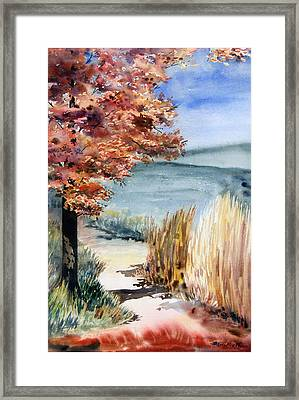 Red Maple Trail Framed Print