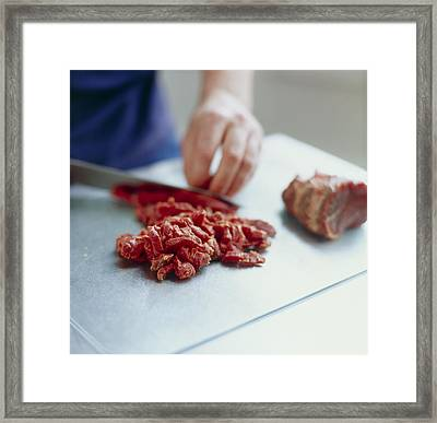 Red Meat Framed Print by David Munns