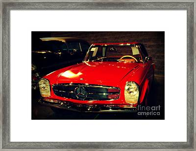 Red Mercedes Sl Framed Print