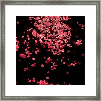 Red Metal Rings Framed Print by Gunay Mutlu