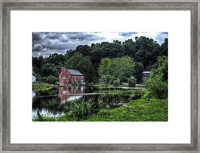 Red Mill Framed Print by Ryan Crane
