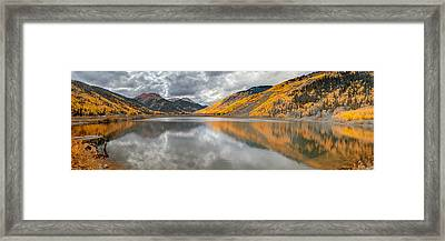 Red Mountain Framed Print by Jennifer Grover