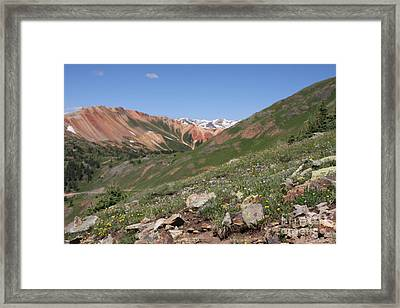 Framed Print featuring the photograph Red Mountain by Marta Alfred