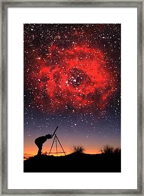 Red Nebula Framed Print