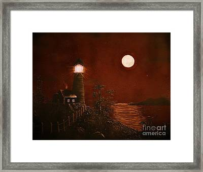 Red Night Framed Print by Barbara Griffin