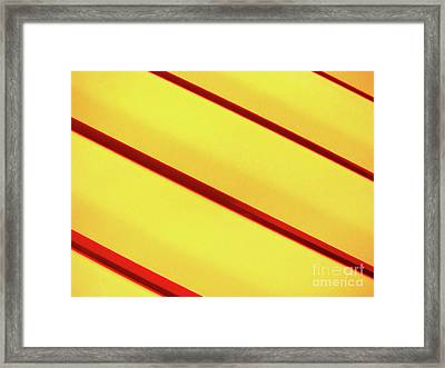Red On Yellow Framed Print by Mark Holbrook