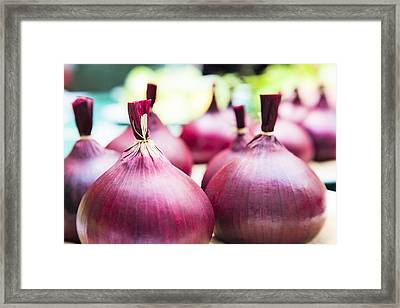 Red Onions Framed Print by Maj Seda