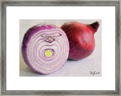 Red Onions Framed Print by Michael Fencik