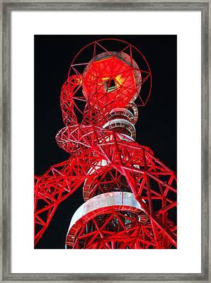 Red Orbit. Framed Print by Terence Davis
