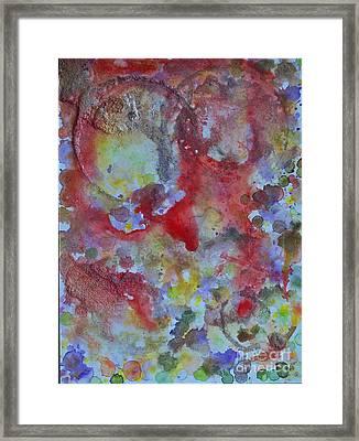 Red Ovals Framed Print by Bill Davis