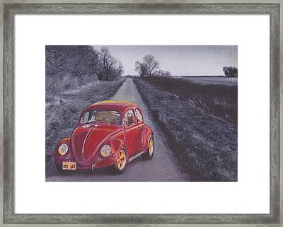 Red Oxo Framed Print by Sharon Poulton