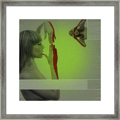 Red Paint Framed Print by Naxart Studio
