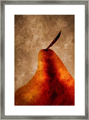 Red Pear I Framed Print by Carol Leigh