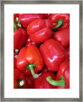 Framed Print featuring the photograph Red Peppers by Brian Sereda