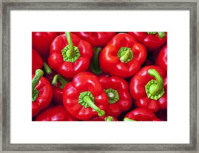 Red Peppers Framed Print by Joana Kruse
