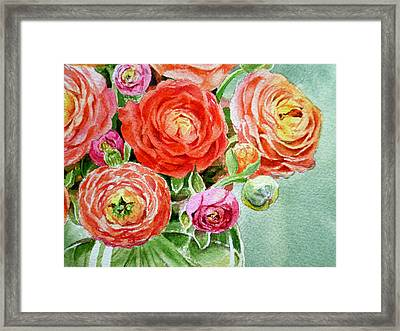 Red Pink And Gorgeous Framed Print by Irina Sztukowski
