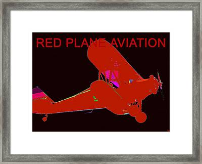 Red Plane Aviation Framed Print