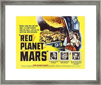 Red Planet Mars, Herbert Berghof, Peter Framed Print by Everett