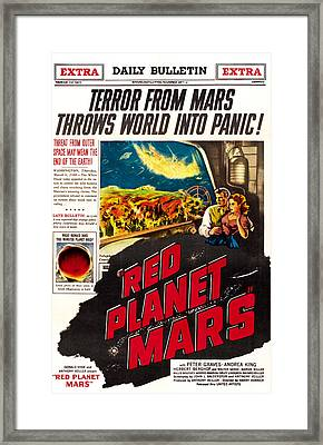 Red Planet Mars, Top From Left Peter Framed Print by Everett