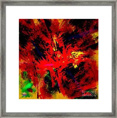 Red Planet Framed Print by Vidka Art