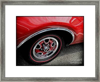 Red Power Of 442 Oldsmobile Framed Print