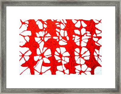 Red Propagation Framed Print