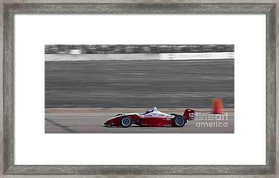Red Racer Framed Print by Darcy Michaelchuk