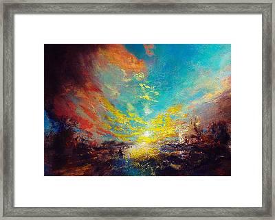 Red Rain Framed Print by Neil McBride
