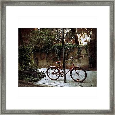 Red Rambler On Commerce Street Framed Print