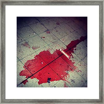 Red Red Wine... Framed Print