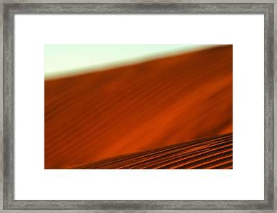 Red Ridge Framed Print