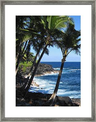 Red Road Drive On Hawaii Island Framed Print