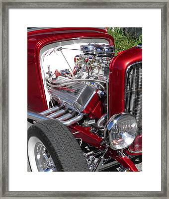Red Roadster Hot Rod Fine Art Photo Framed Print by Sven Migot