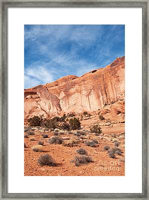 Red Rock And Blue Skies 2 Framed Print by Bob and Nancy Kendrick