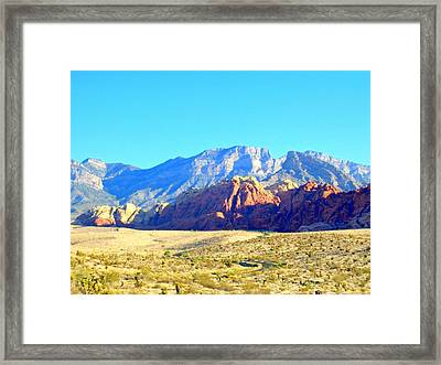 Red Rock Canyon 12 Framed Print by Randall Weidner