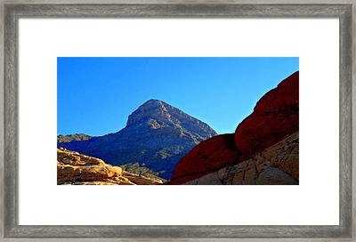 Red Rock Canyon 24 Framed Print by Randall Weidner