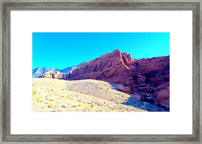 Red Rock Canyon 3 Framed Print by Randall Weidner