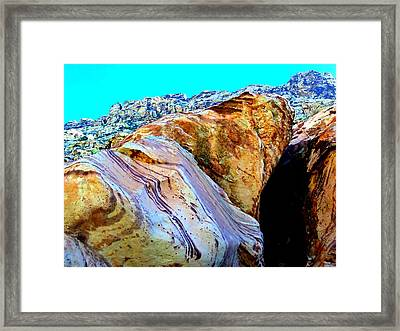 Red Rock Canyon 48 Framed Print by Randall Weidner