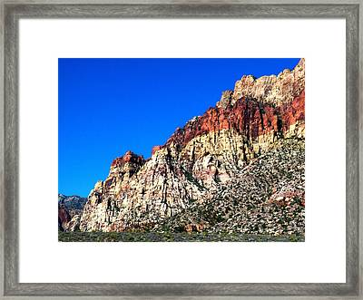 Red Rock Canyon 65 Framed Print by Randall Weidner