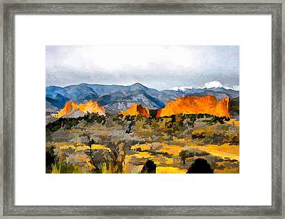 Framed Print featuring the digital art Red Rock Country by Brian Davis