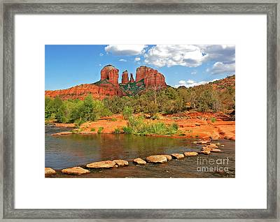 Red Rock Crossing Framed Print by Clare VanderVeen