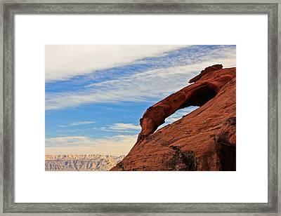 Red Rock  Framed Print by Kaye Seaboch