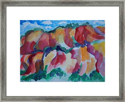 Red Rock Landscape Framed Print