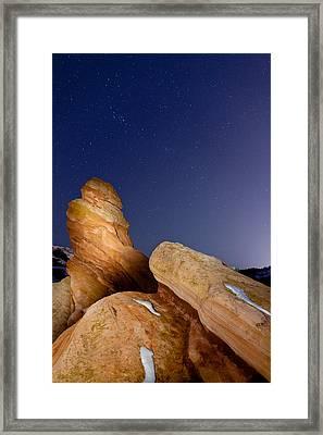 Red Rock Stars Framed Print by Adam Pender