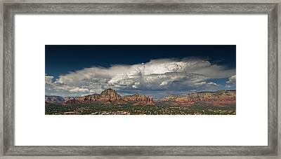 Red Rock Storm Framed Print by Scott Faunce